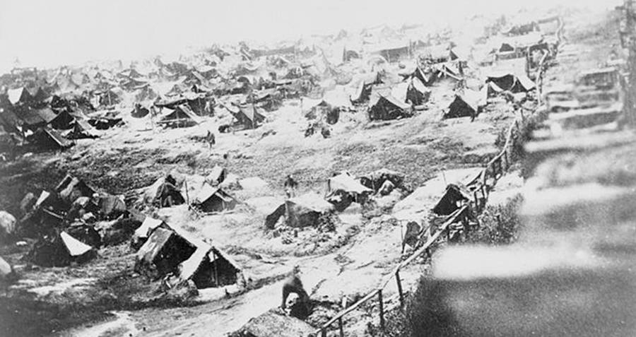 Camp Tents In Andersonville