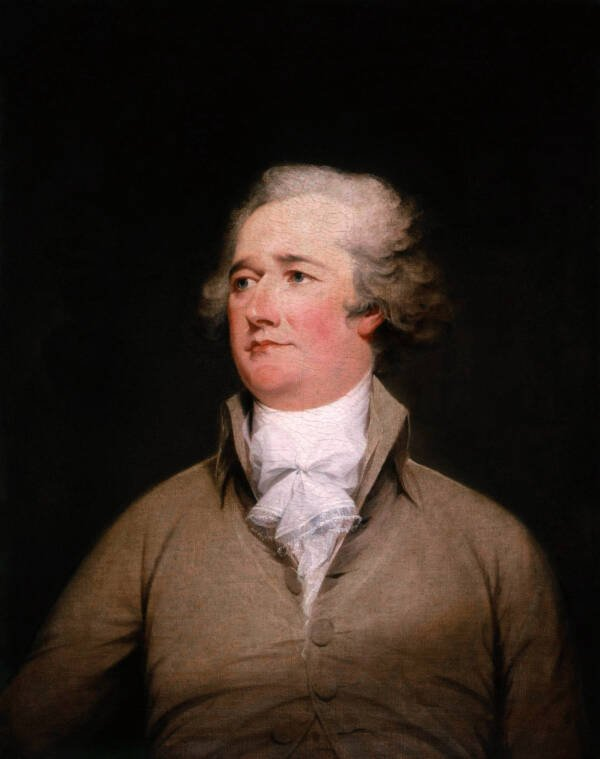 Profile Portrait Of Older Alexander Hamilton