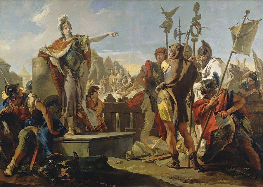 Queen Zenobia With Soldiers