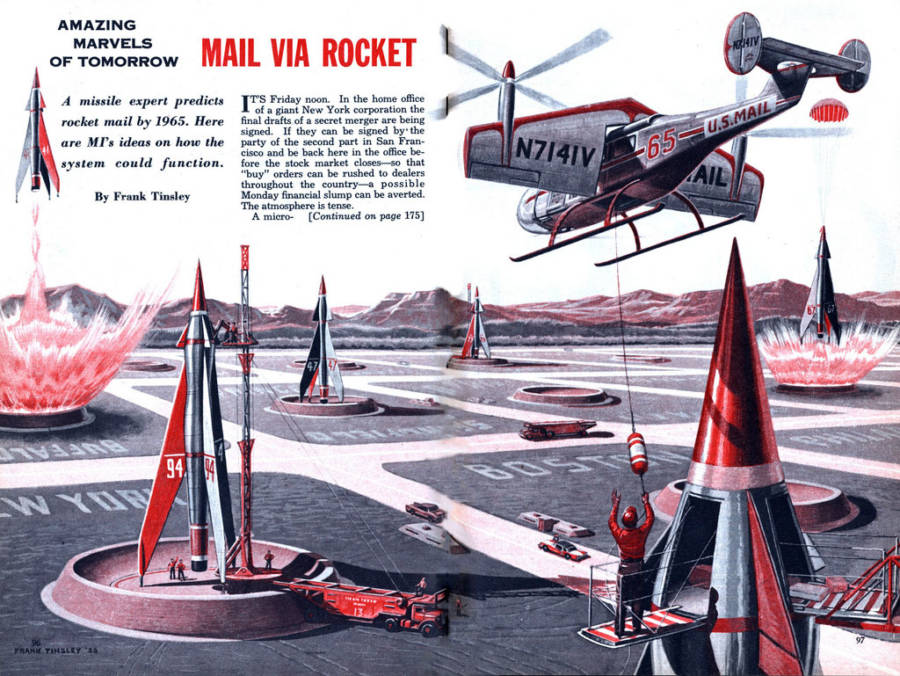 Mail Delivered By Rockets And Planes