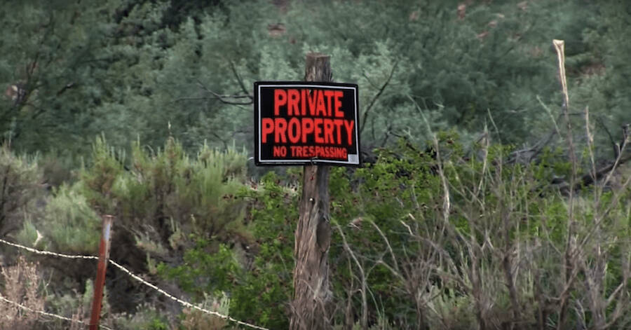 Private Property Sign Outside Skinwalker Ranch