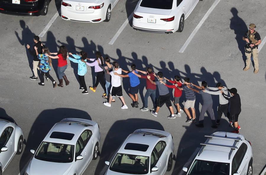Students Walking In Line