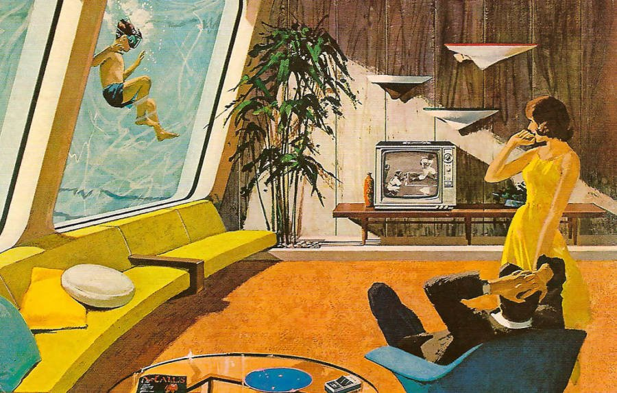 Retrofuturism Underwater Home