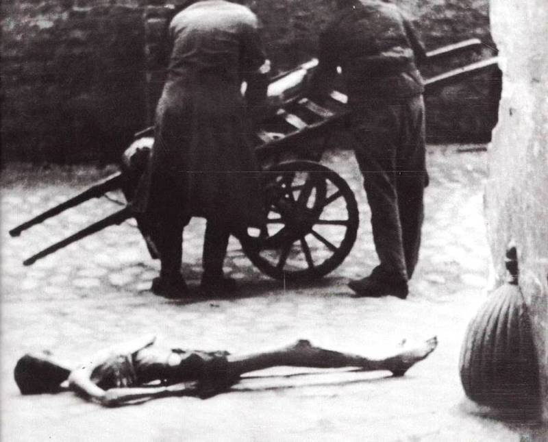 Jewish Ghettos Emaciated Body