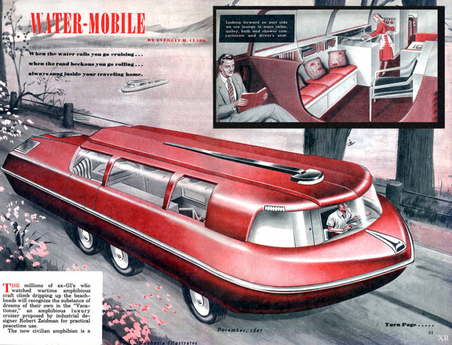 Amphibious RV Vehicle Of The Future