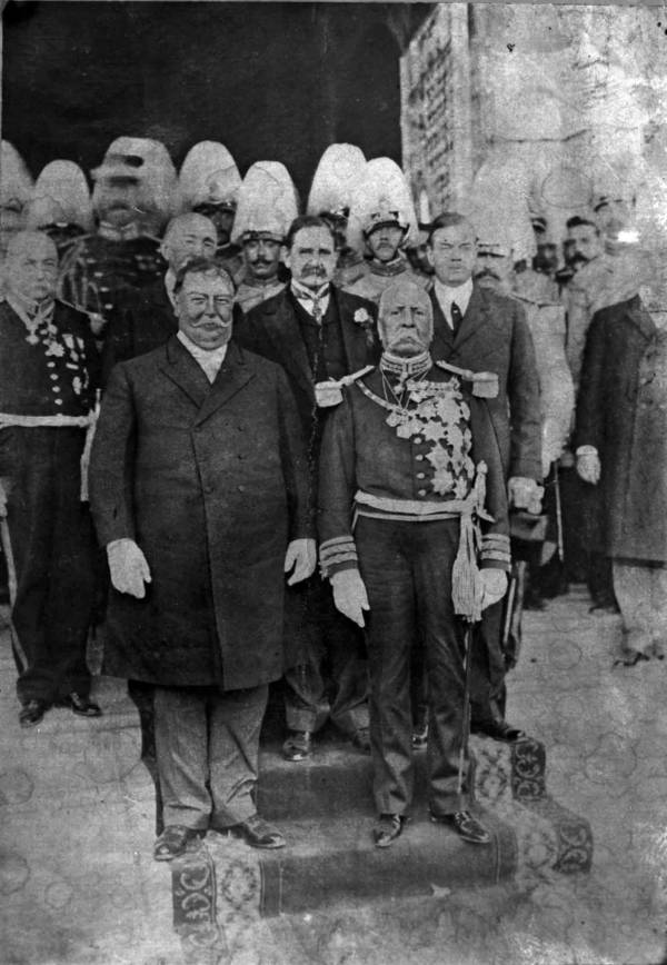 William Taft And Porfirio Díaz