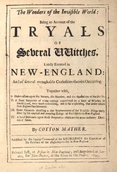 Cotton Mather's Account Of The Trials