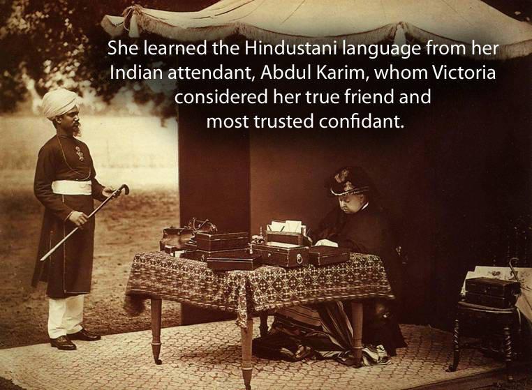 Queen Victoria With Abdul Karim