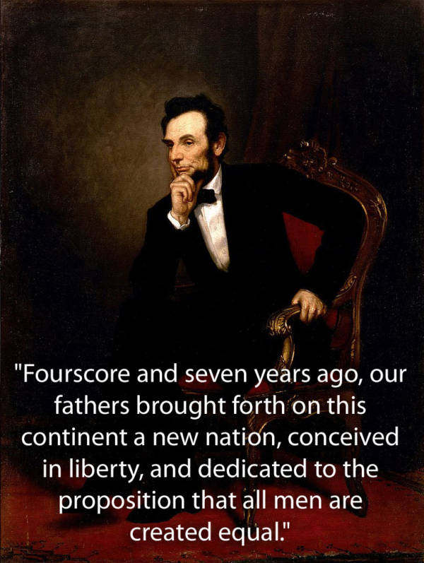 Abraham Lincoln Quotes From Gettysburg Address