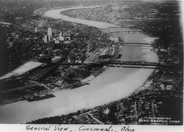 Aerial View Of Cincinnati