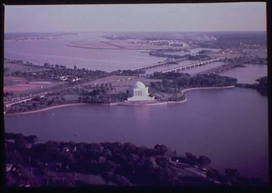 Aerial View Of Jefferson Memorial