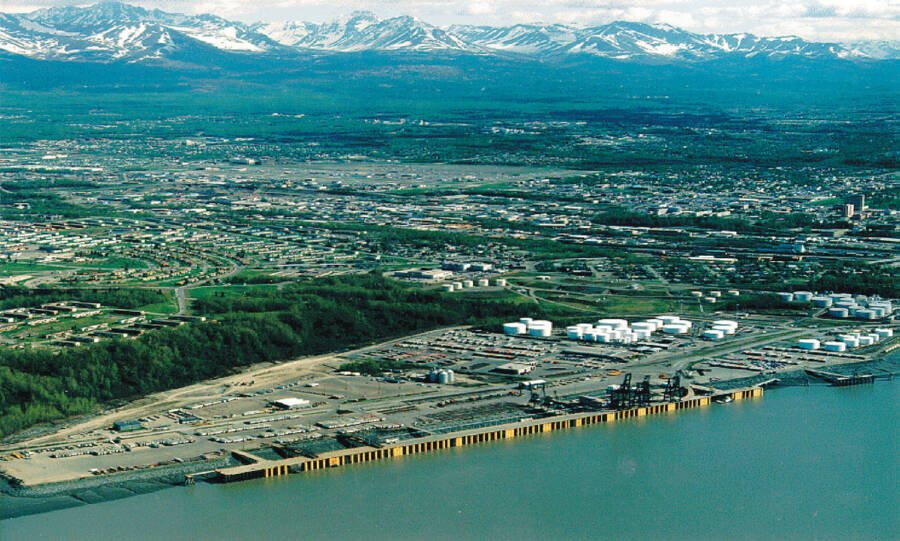 Aerial View Of Anchorage Alaska