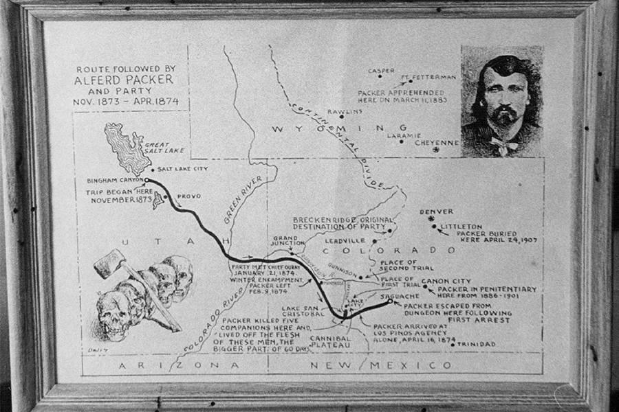Alferd Packer Party Map