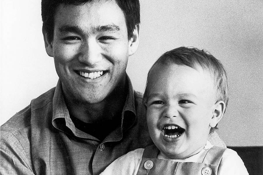 Bruce Lee With His Son Brandon Lee
