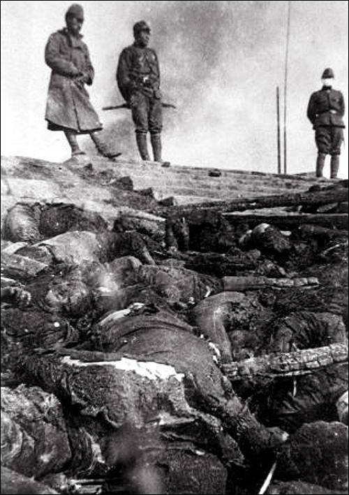 Burned Bodies Of Soldiers