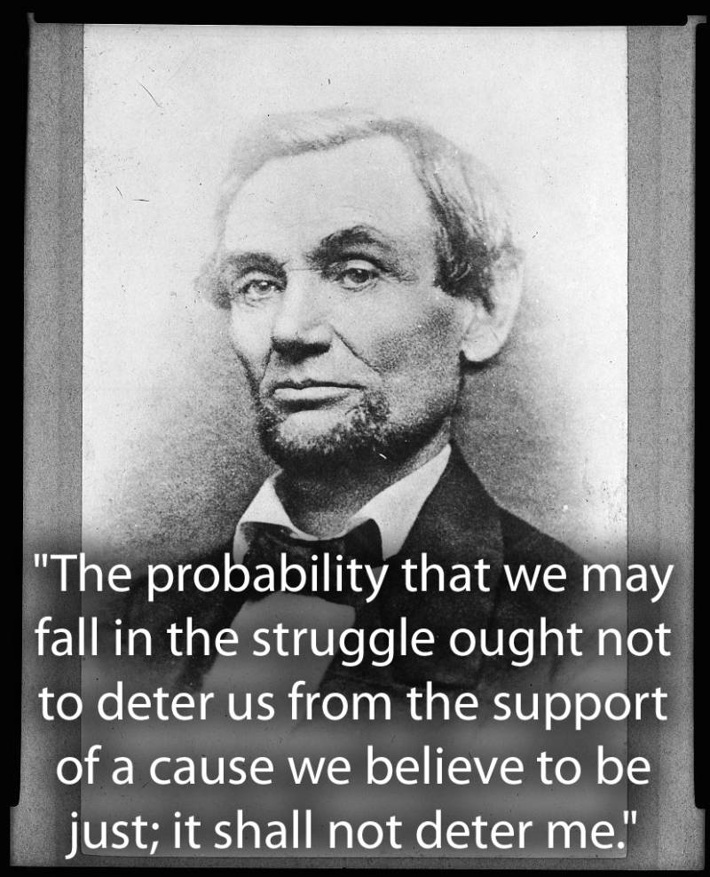 Lincoln Quote About Perseverance