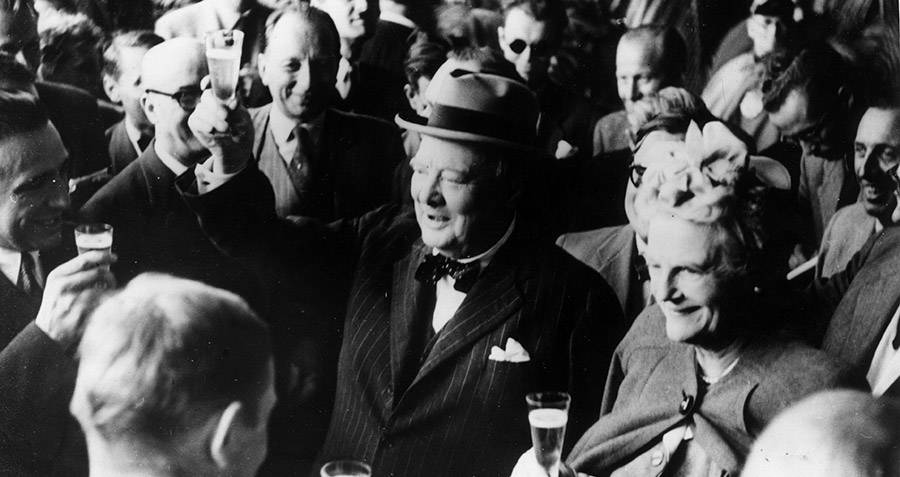 Winston Churchill Toasting