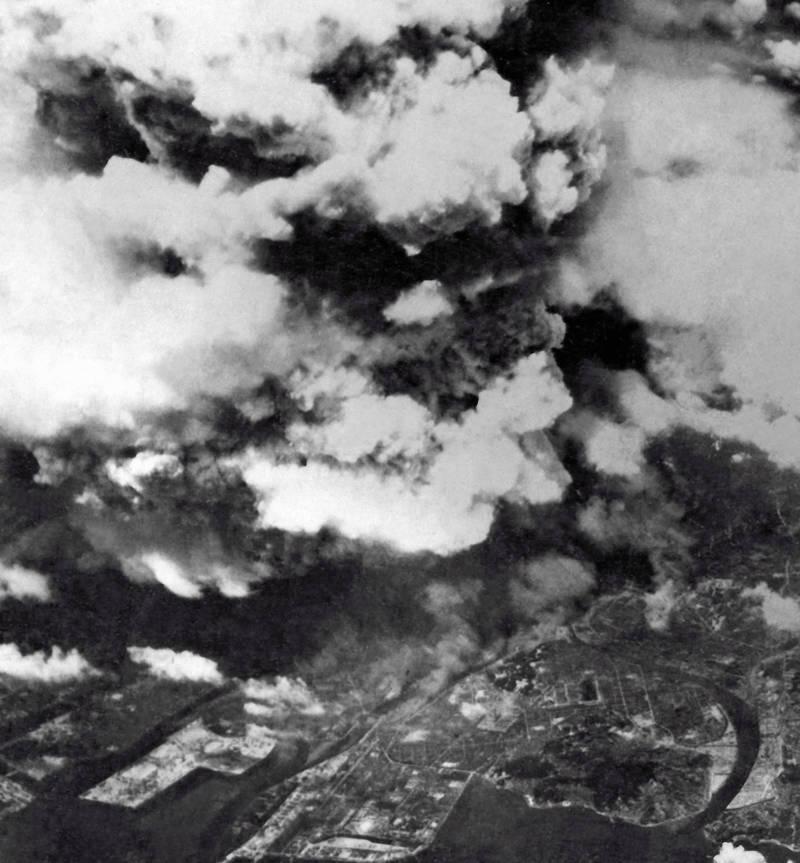 Cloud Rises Over Hiroshima