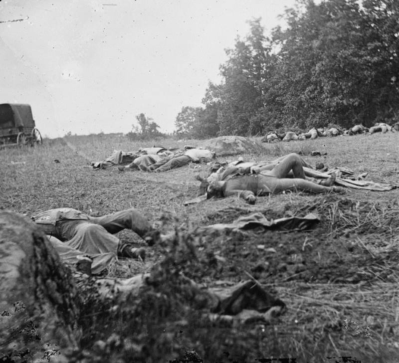 Confederates Awaiting Burial