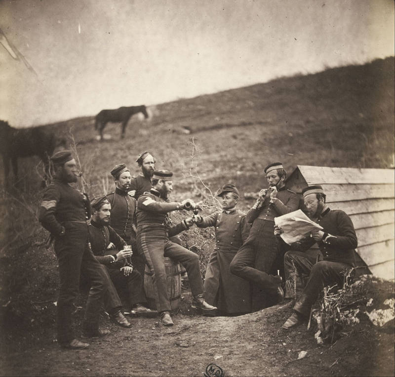 Crimean War Soldiers Drinking
