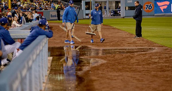 Raw Sewage Spills Onto Dodger Stadium Field, Canceling Game