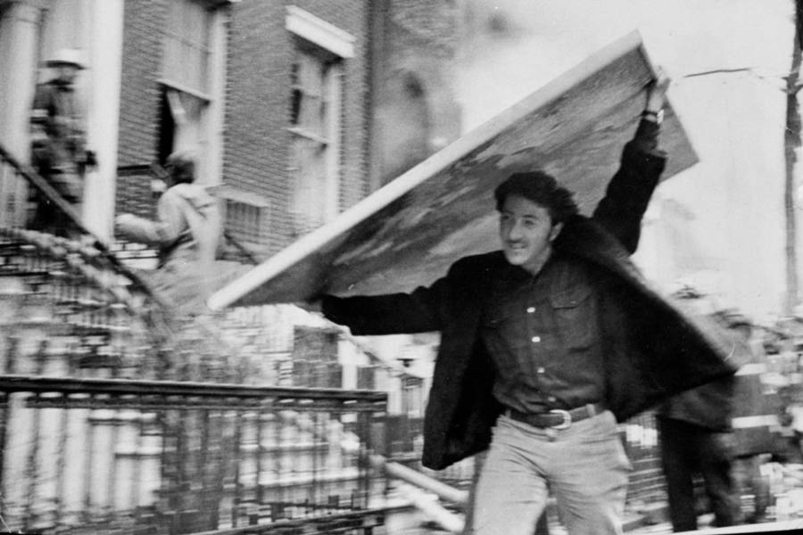 Dustin Hoffman The Weathermen Bombing