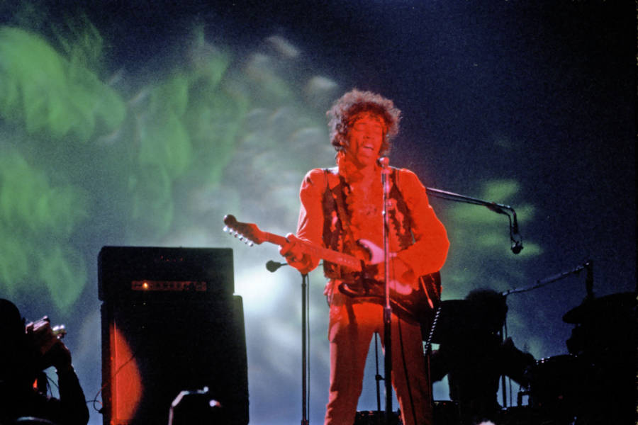 Jimi Hendrix Performing Onstage