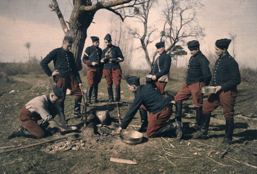 French Soldiers Autochrome