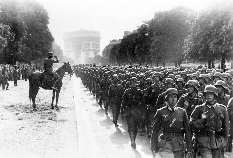 German Soldiers In Paris