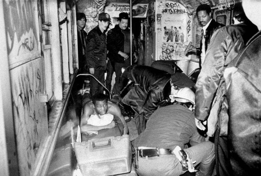 Subway Train After Bernhard Goetz Shooting
