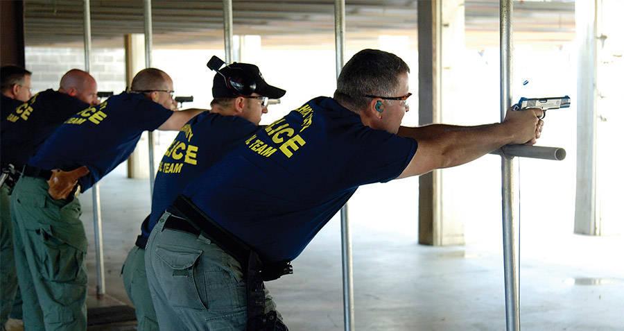 Police At Gun Range