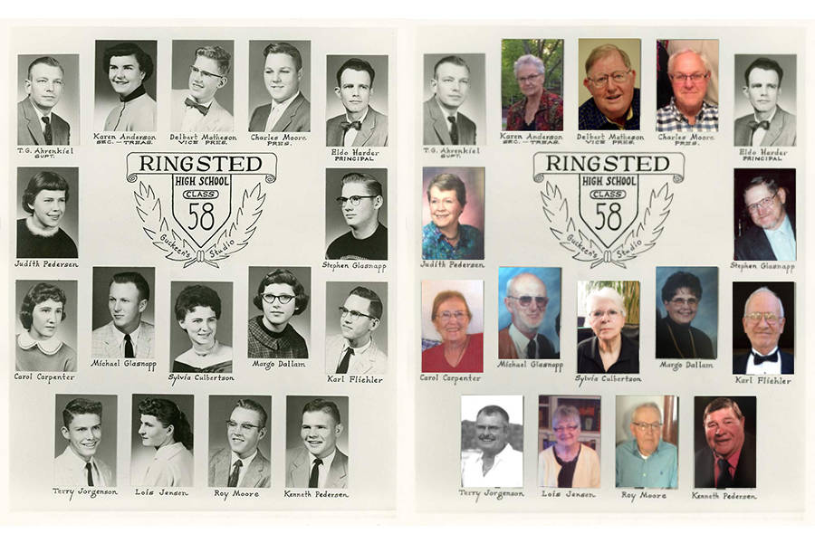 Ringsted High School Class Of 1958 Then And Now