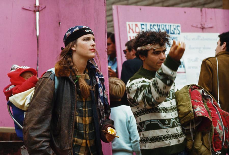 Hippie Family At Monterey Pop Festival