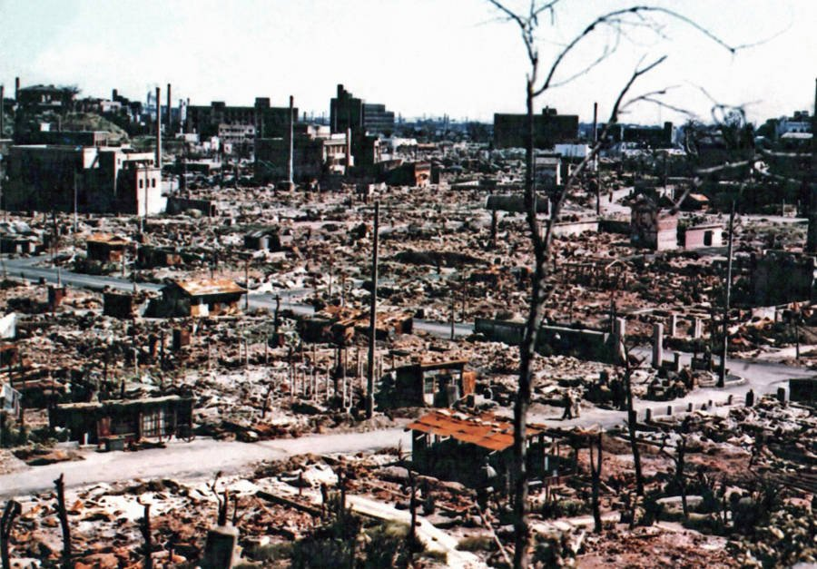 Hiroshima Aftermath In Color