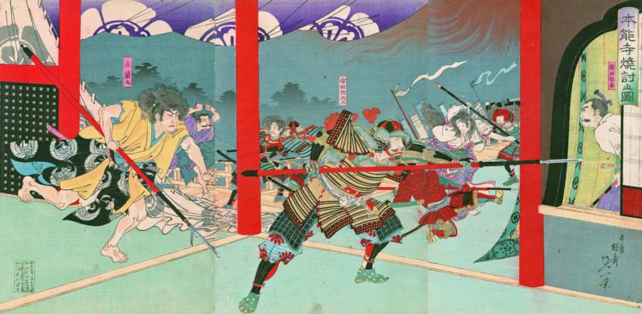 Oda Nobunaga In The Honno Ji Incident