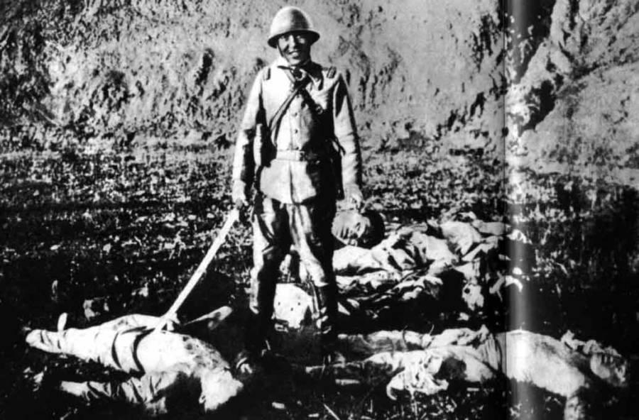 Nanking Mészárlás leszakadt fej