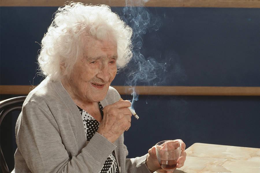 Jeanne Calment Smoking