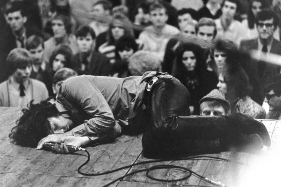 Jim Morrison Lying On Stage