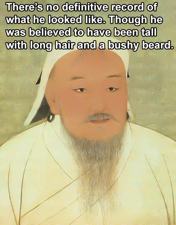 Genghis Khan Facts Portrait