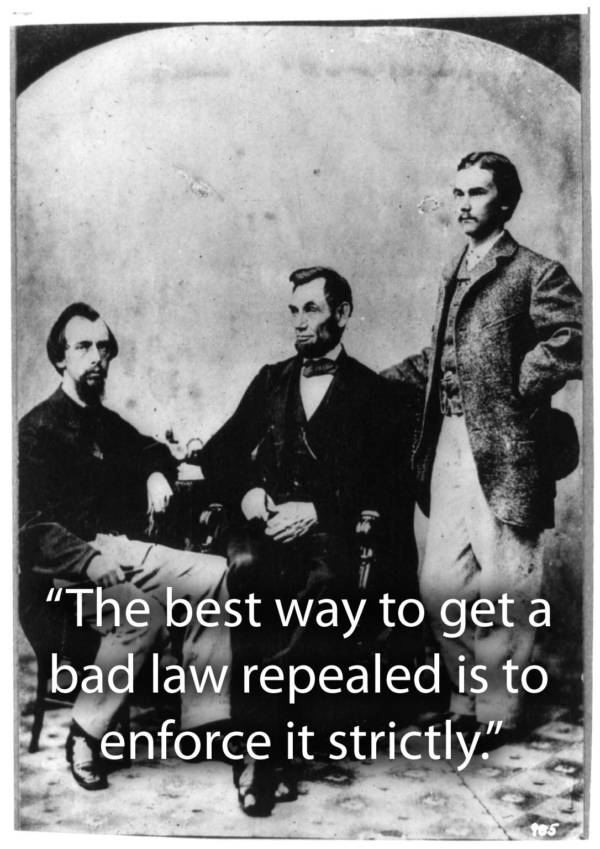 Lincoln With Secretaries
