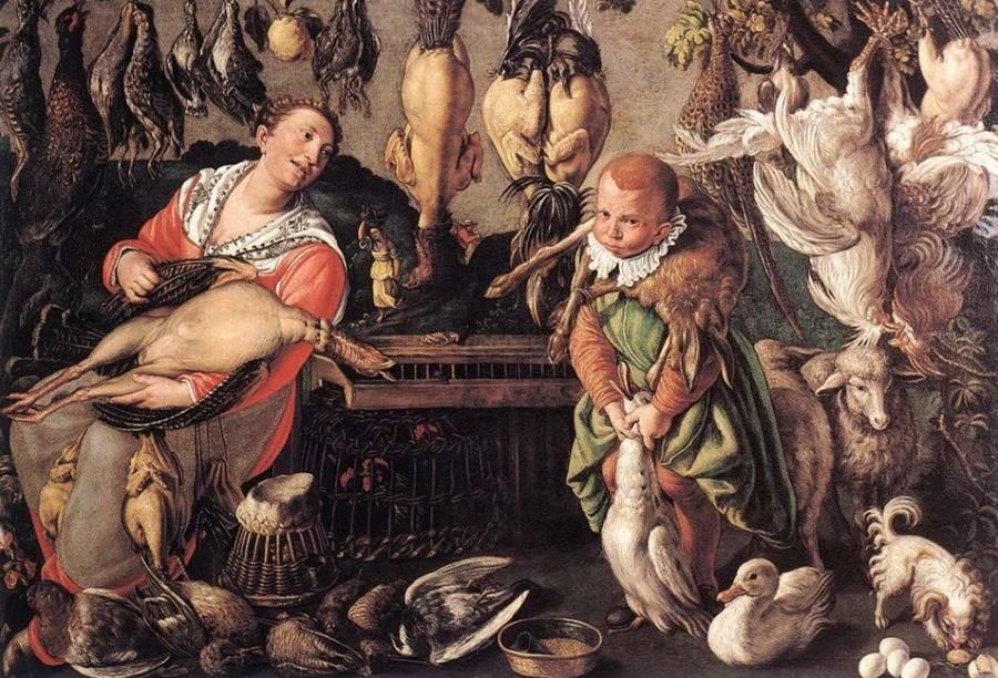 Medieval Foods Being Prepared