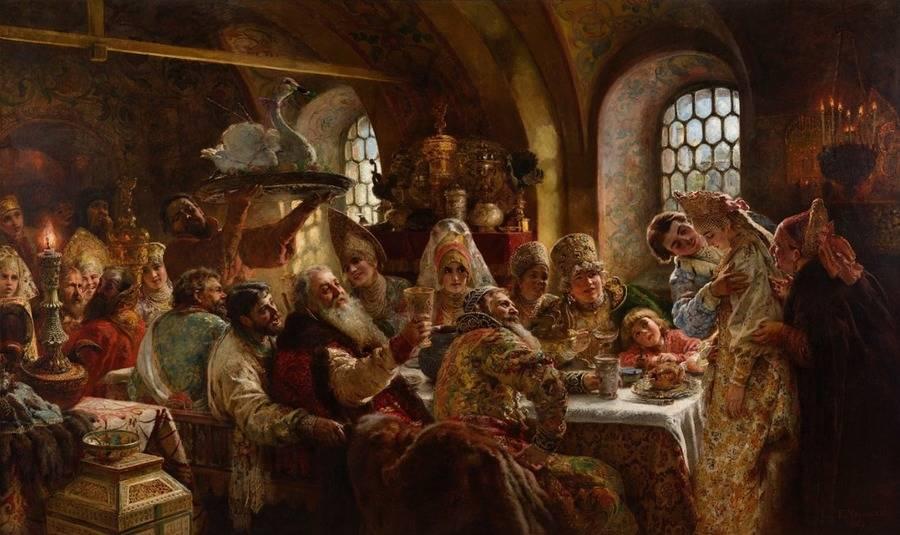 Medieval Foods At Dinner