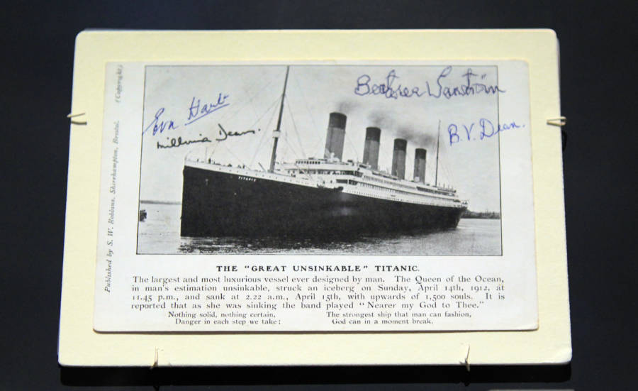 Millvina Dean Signed Titanic Postcard