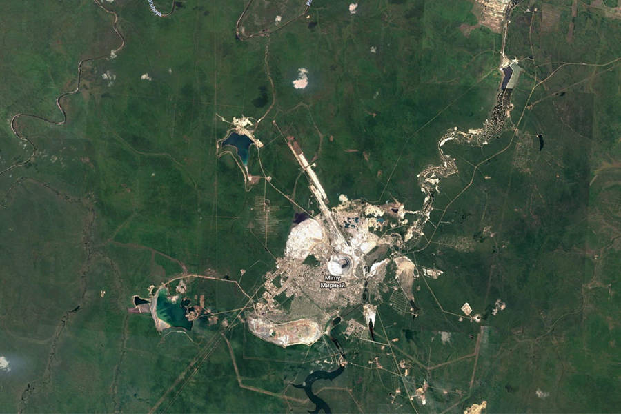 Mirny Diamond Mine From Space