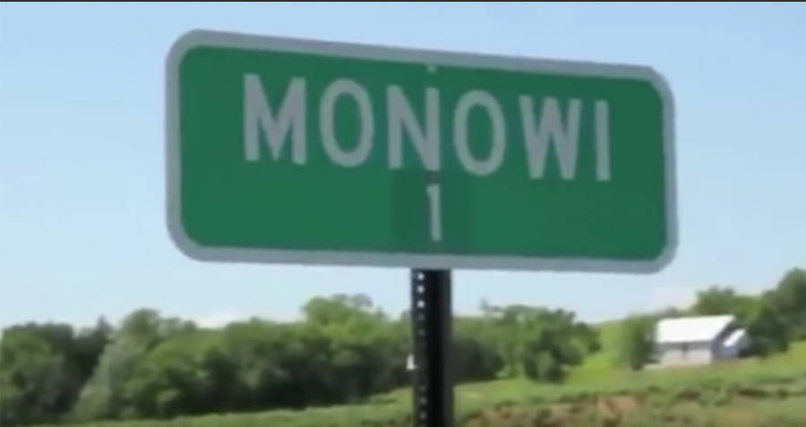 Monowi Road Sign One