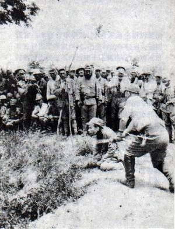 Nanking Massacre lefejezés