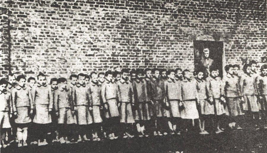 Polish Children In Nazi Camp