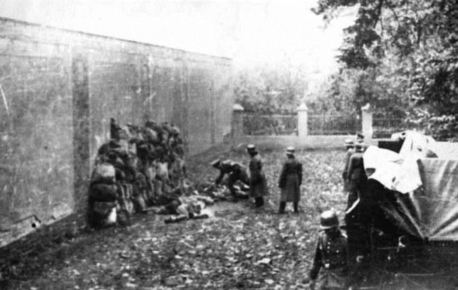 Nazis Shooting Polish Civilians