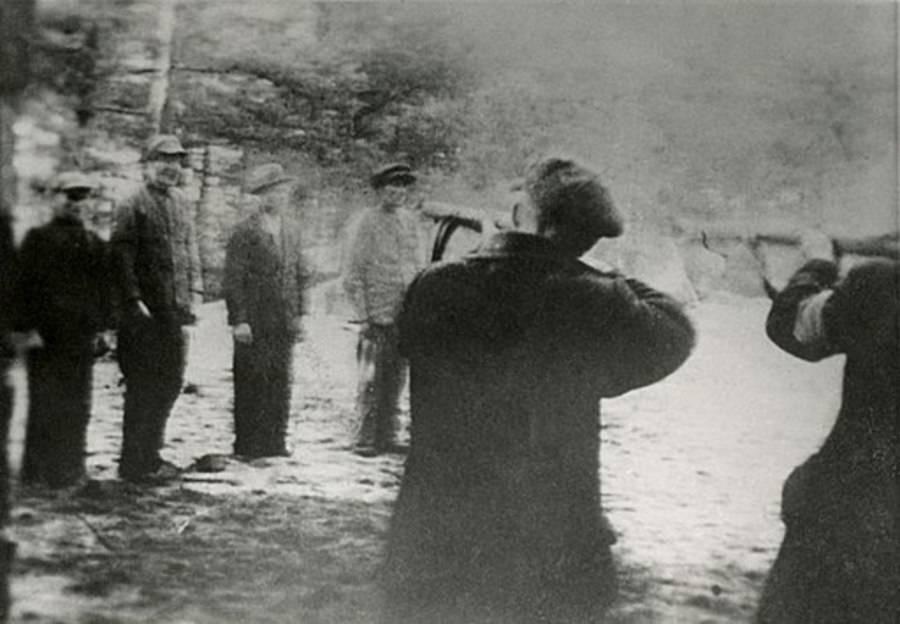 Nazis Shooting Polish Men