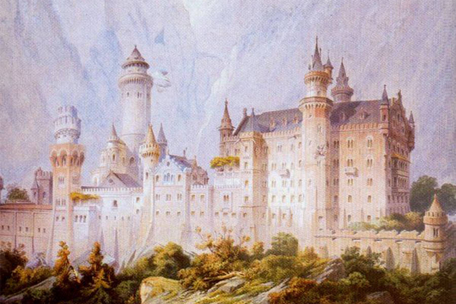 Neuschwanstein Castle Conceptual Drawing